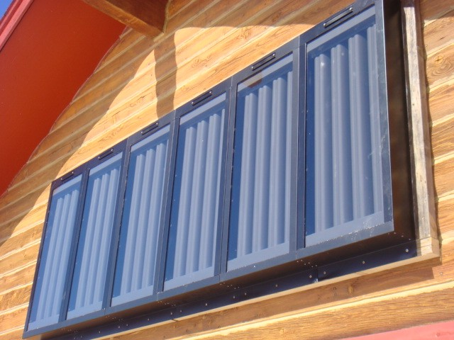 Solar Window Air Heater 6 Panel Array Exterior